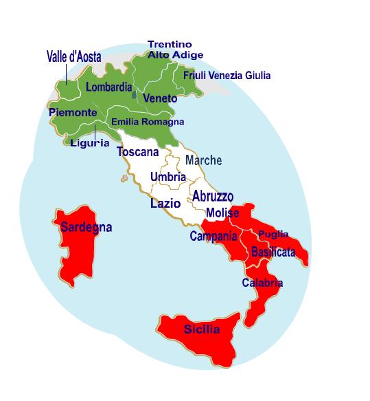 Cartina Italia Regioni Con Capoluoghi.Geografia Dire Fare Partire Lezione 1