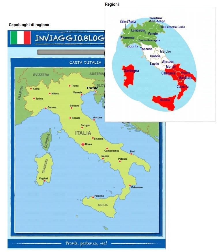 Cartina D Italia Con Capoluoghi Di Regione.Geografia Dire Fare Partire Lezione 1